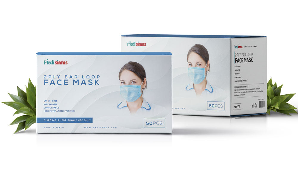 2-PLY EARLOOP DISPOSABLE FACE MASK