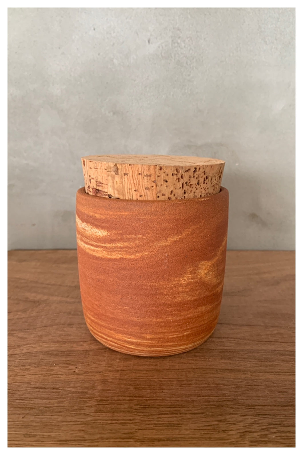 Hawaiian Red Clay Canister