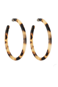 Large Hoop in Blonde Tortoise