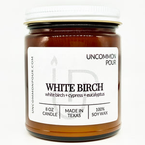 White Birch Candle by Uncommon Pour