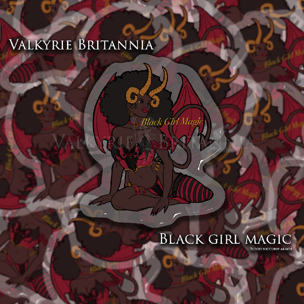 Black Girl Magic and Andromeda in Chains Glitter Stickers are HERE!