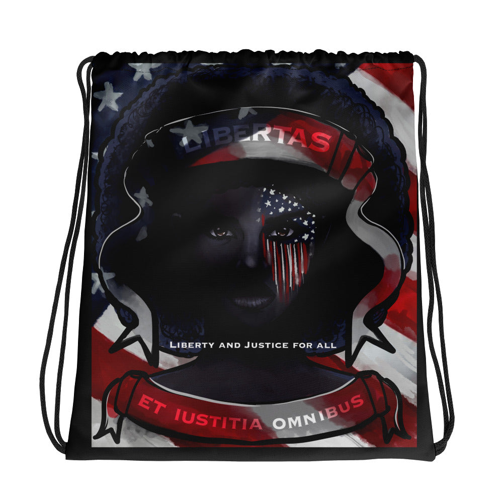 Liberty and Justice for All Drawstring bag