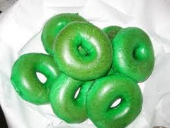 GREEN Plain Bagels