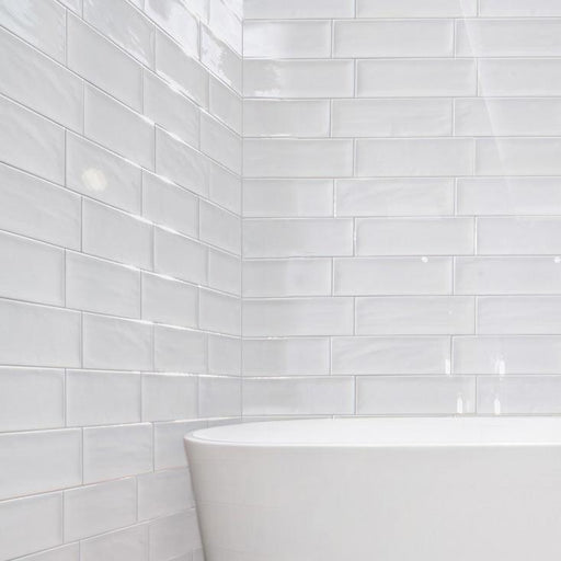 10x30cm Aria White Brick tile-Fabresa-ceramicplanet.co.uk