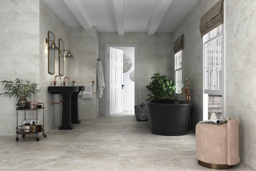 37x75cm Bowland White Floor tile-Alaplana-Brooke ceramics ltd