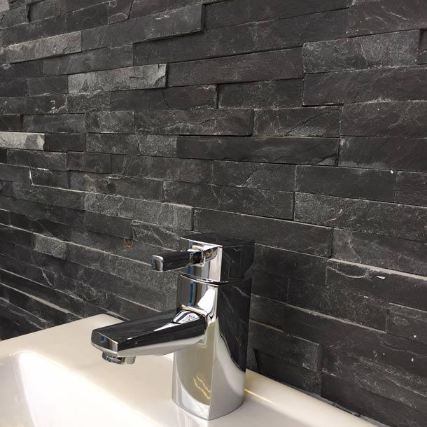 10x40cm Black Slate Split Face tile-Impex-ceramicplanet.co.uk