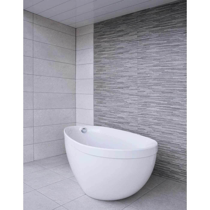 28x85cm Lamas Concrete Grey Decor Matt Wall Tile-Baldocer-ceramicplanet.co.uk