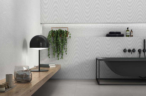 25x75cm Hardy Curve Blanco Decor wall tile-Emigres-Brooke ceramics ltd