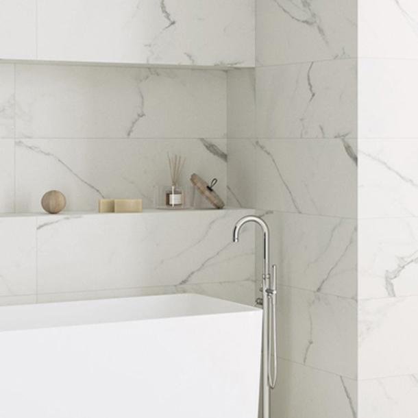 30x90cm Polaris White Marble rectified tile-Baldocer-ceramicplanet.co.uk