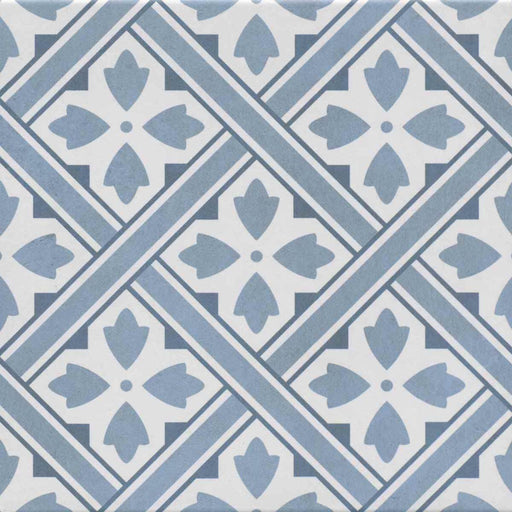 33x33cm Mr Jones Patterned Blue floor tile GS-D4862-Canakkale Seramik - Kale-ceramicplanet.co.uk