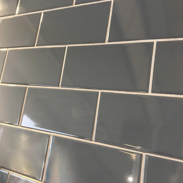 10x20cm Flat Gloss Sea Blue Brick tile-Karo Metro Ceramics-Brooke ceramics ltd