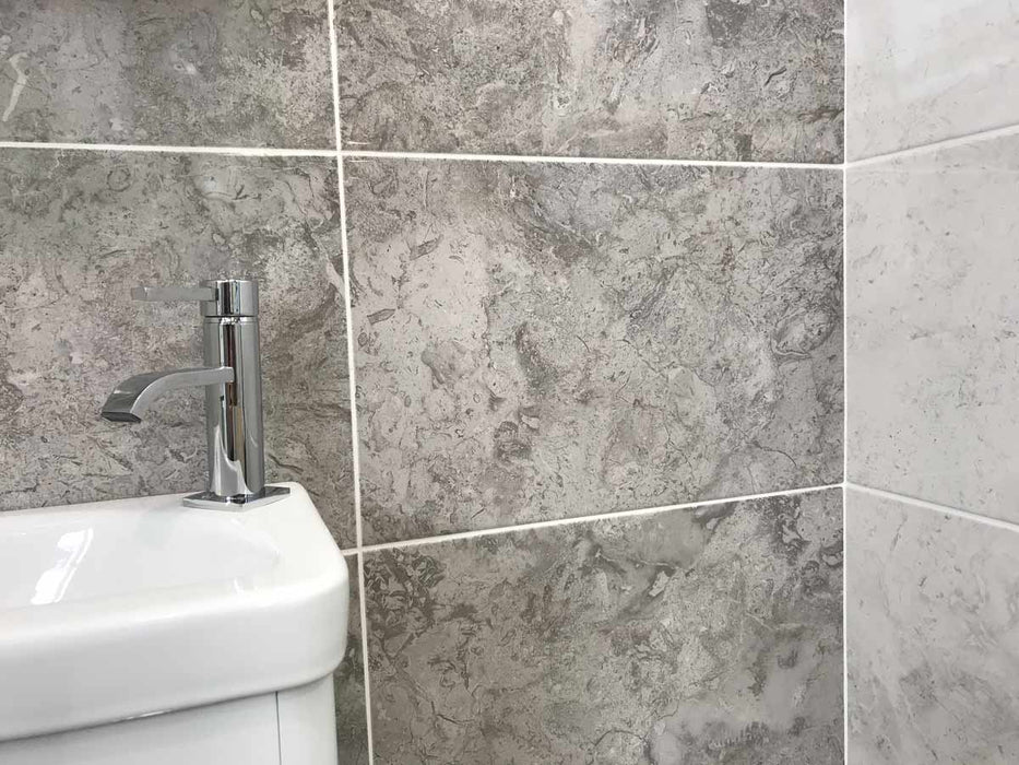 30x60cm Tones Otter Marble Gloss tile NTM02A-Johnson Tiles-Brooke ceramics ltd