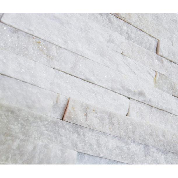 10x40cm White Quartz Split Face tile-Ionic-ceramicplanet.co.uk