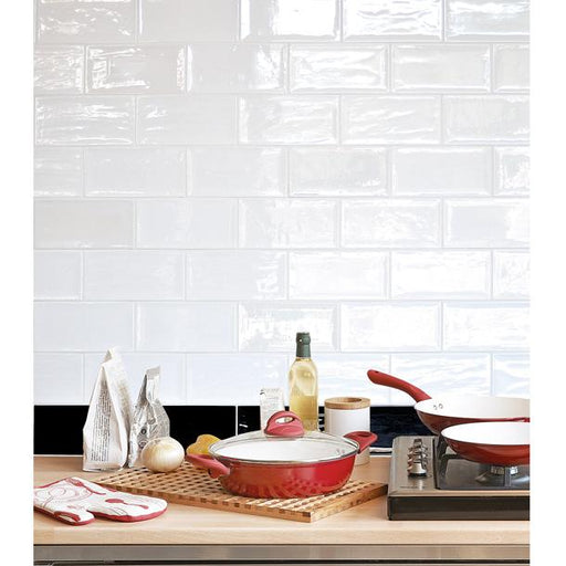 10x20cm Artisan White Brick gloss tile-Fabresa-ceramicplanet.co.uk