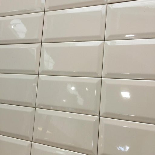 10x20cm Metro Cream Bevelled Brick wall tile-Fabresa-ceramicplanet.co.uk