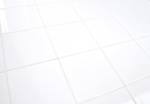 14.8x14.8cm Flat White Gloss wall tile-Rako-Brooke ceramics ltd