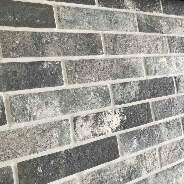 6x25cm London Brick Slip Charcoal tile-Rondine-Brooke ceramics ltd