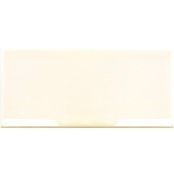 10x20cm Metro Cream Flat Smooth Brick Gloss tile-Fabresa-ceramicplanet.co.uk