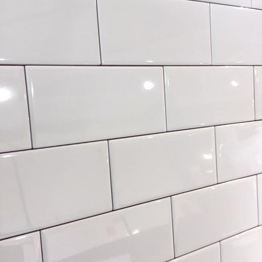 15x7.5cm Mini Metro White Flat Gloss Brick tile-Demireks-ceramicplanet.co.uk