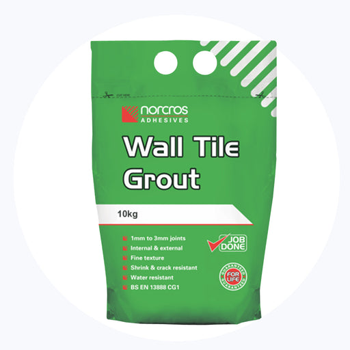 Norcros White Wall Tile Grout 10kg-Norcros-Brooke ceramics ltd