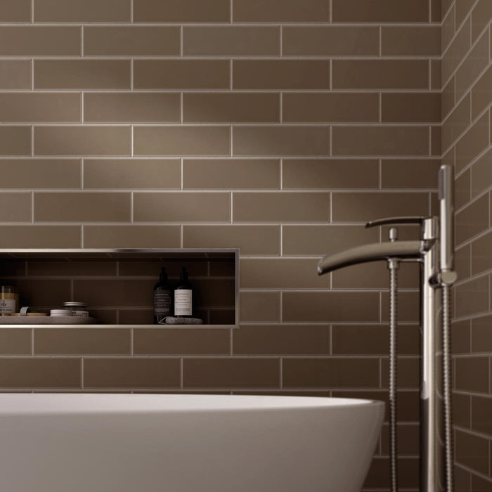 10x30cm Savoy Caraway gloss wall tile-Johnson Tiles-Brooke ceramics ltd