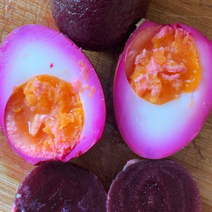 Beetroot pickled eggs