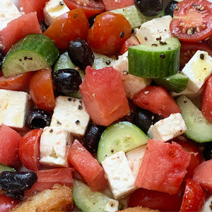 Greek salad with watermelon