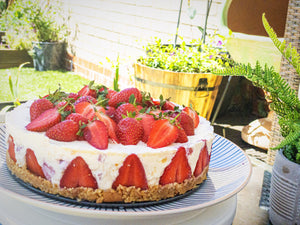 Kentish Strawberry & White Chocolate Cheesecake