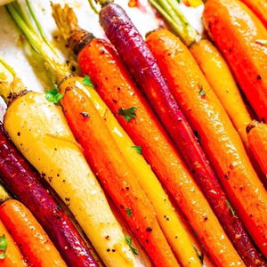 Honey roasted Heritage carrots with thyme