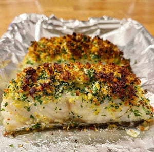 Cod fillets with a lemon & herb crust
