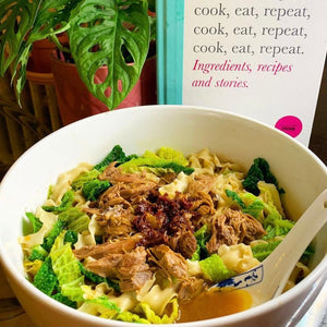 Aromatic lamb shank with noodles - a Nigella Lawson recipe