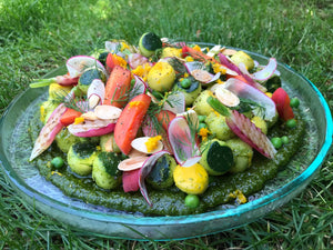 Andy Aston's Salad of Courgettes, Grilled Radish, Apricots & Almond