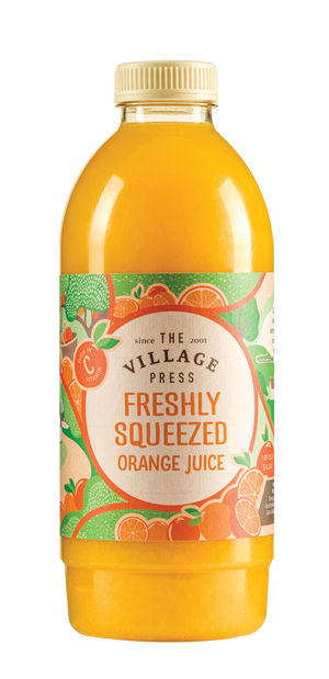 Fresh Orange Juice - Village Press - 1Ltr-Watts Farms