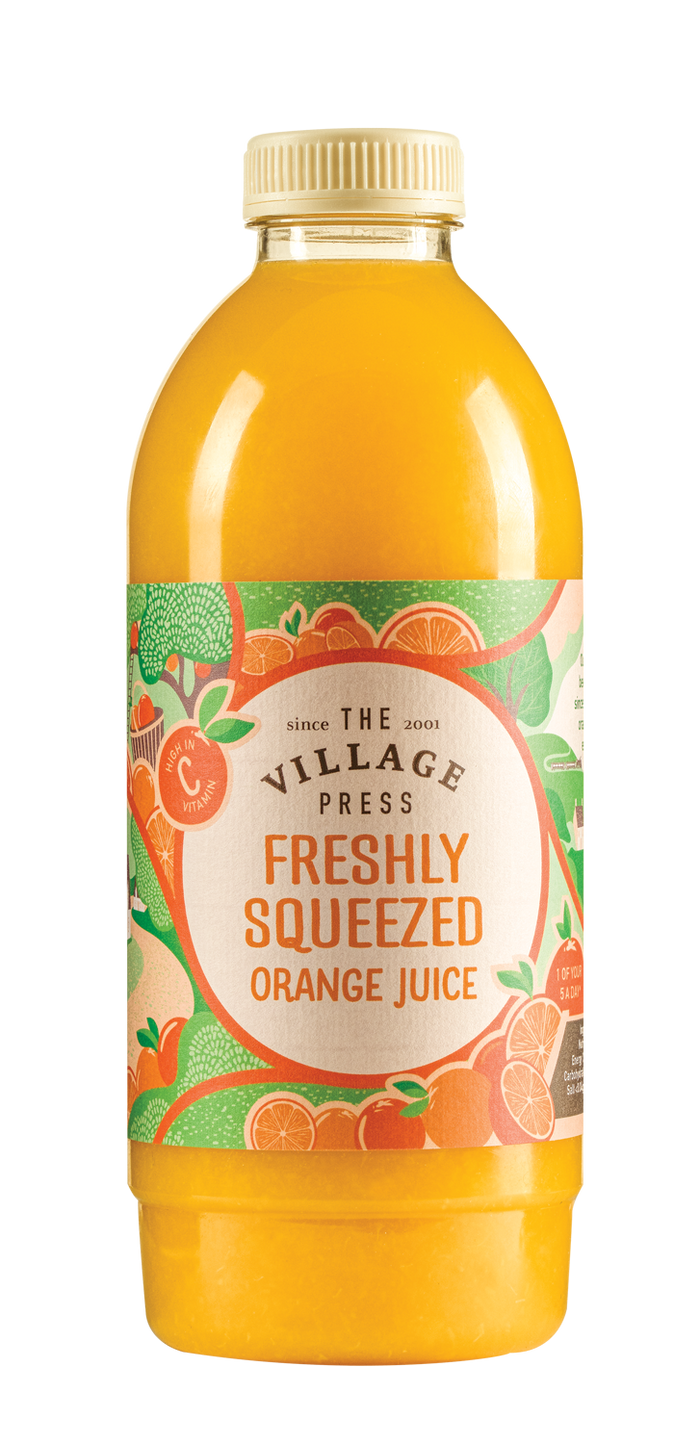 Fresh Orange Juice - Village Press - 1Ltr