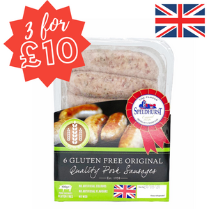 Speldhurst Sausages - Gluten Free - 400g (Pack of 6)