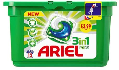 Ariel 3 in 1 Washing Capsules - 12 Pack