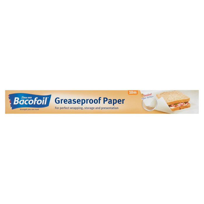 Bacofoil Greaseproof Roll 380mm x 10m - each