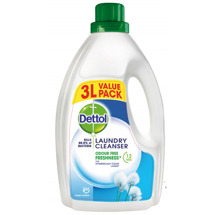 Dettol Laundry Cleanser - 3L Value Pack