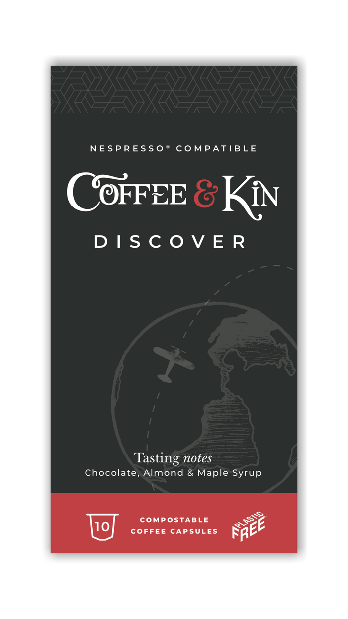 Coffee & Kin Compostable Coffee Pods - Discover - Pack of 10