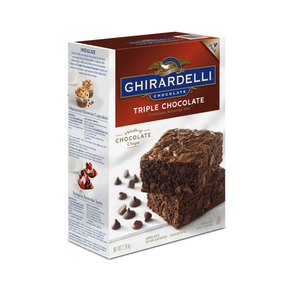 Ghirardelli Triple Chocolate Brownie Mix 4 Batches - Box