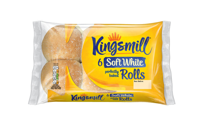 Kingsmill Soft White Rolls -  Pack of 6