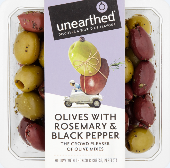 Unearthed - Olives with Rosemary & Black Pepper - 230g