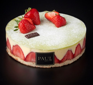 PAUL - Fraisier Cake - Each (6-8ppl)-Watts Farms