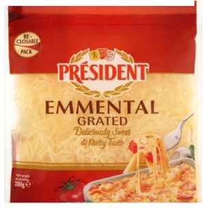 President Cheese - Emmental Grated - 200g-Watts Farms