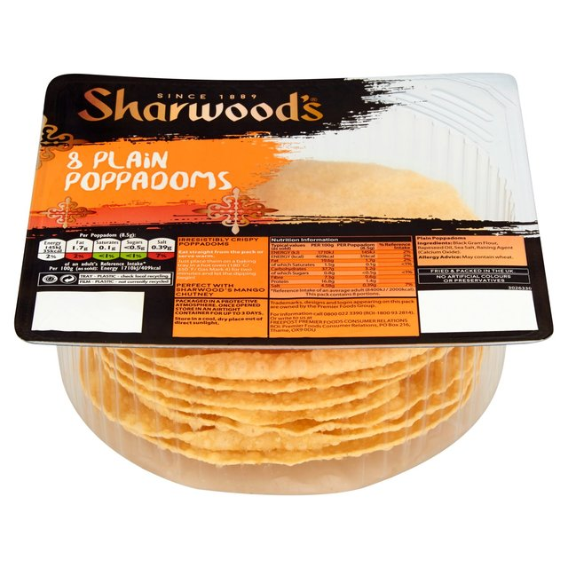 Sharwoods Ready to Eat Poppadoms - Pack 72g