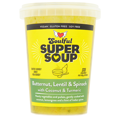 Soulful Foods Supersoup - Butternut, Lentil & Spinach - 600g