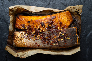 Fresh Fish Oven Ready Pack - Salmon, Honey, Soy & Chilli - Pack (260g)