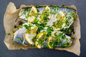 Fresh Fish Oven Ready Pack - Seabass Lemon & Parsley- Pack (450g)