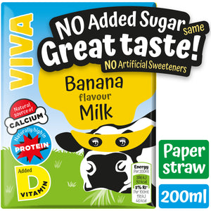 VIVA Kids Banana Milk - 27*200ml