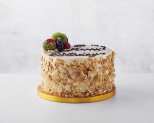 PAUL - Almond & Marzipan Fruit Gateau (10-12ppl)-Watts Farms